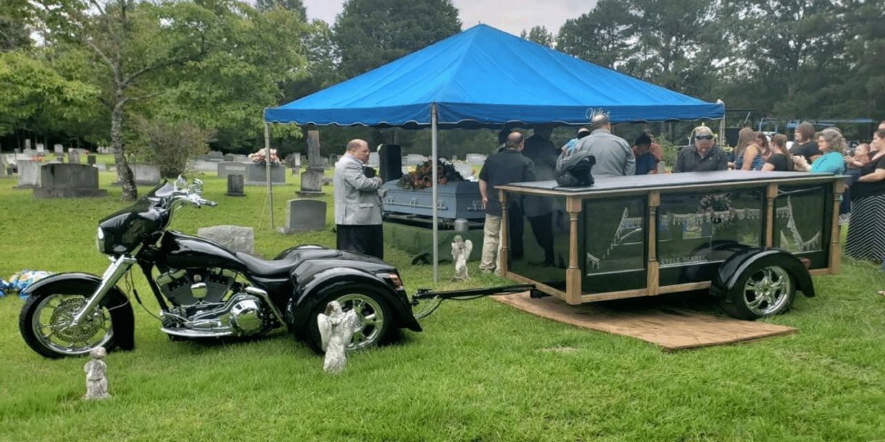 """Go Out in Style with Cycle Hearse Funeral Services for the """"Ultimate Last Ride"""""""
