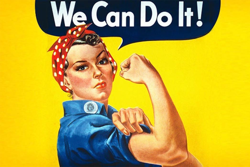 1940s Bandana, Rosie the Riveter