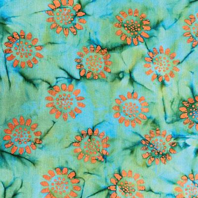 batik emily tie dye green and orange bandana 22x22. Black Bedroom Furniture Sets. Home Design Ideas