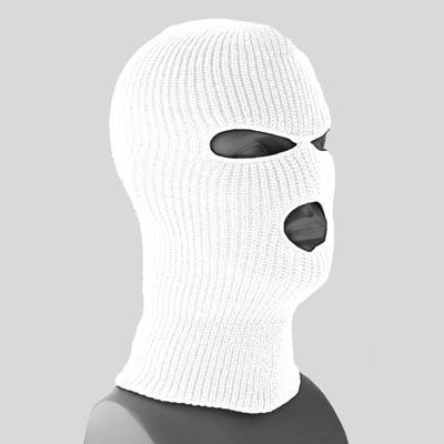 ff7dd8e45362e Superstretch White Full Face Ski Mask - Dozen Packed - Made in USA   WholesaleForEveryone.com