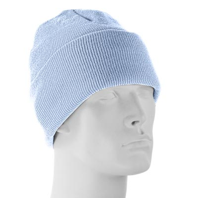 7b73b92df8266 Light Blue Thinsulate FLEX Ski Hat - Single Piece - Made in USA ...