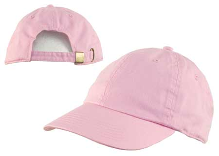 Light Pink Cotton Cap with adjustable Clasp - Dozen Packed   WholesaleForEveryone.com bdc1b63bb8e
