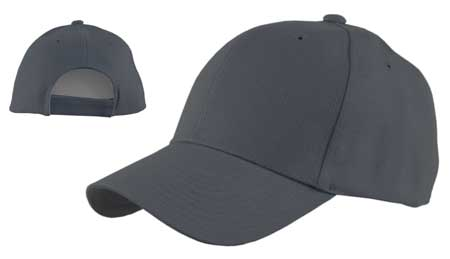 Dark Grey Wool Look Baseball Hat with Adjustable Velcro Back - Dozen  Packed  WholesaleForEveryone.com 739e6f6cc04