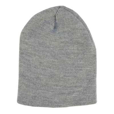 12b4bc0918a27 Solid Light Grey Beanie Winter Hat - Single Piece  WholesaleForEveryone.com
