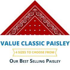 Western Paisley Bandana - Made in USA 100% Cotton
