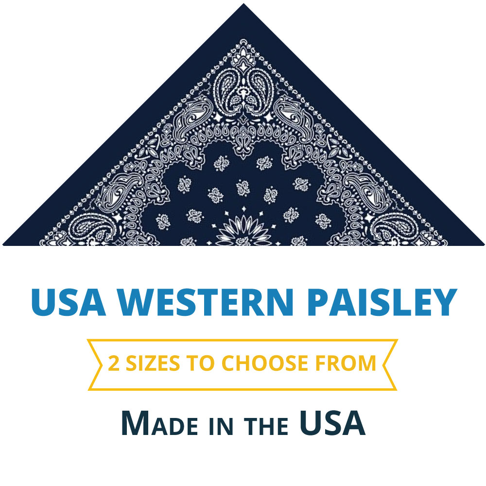 paisley usa handkerchiefs western bandana cotton bandanas bulk hankies wholesale