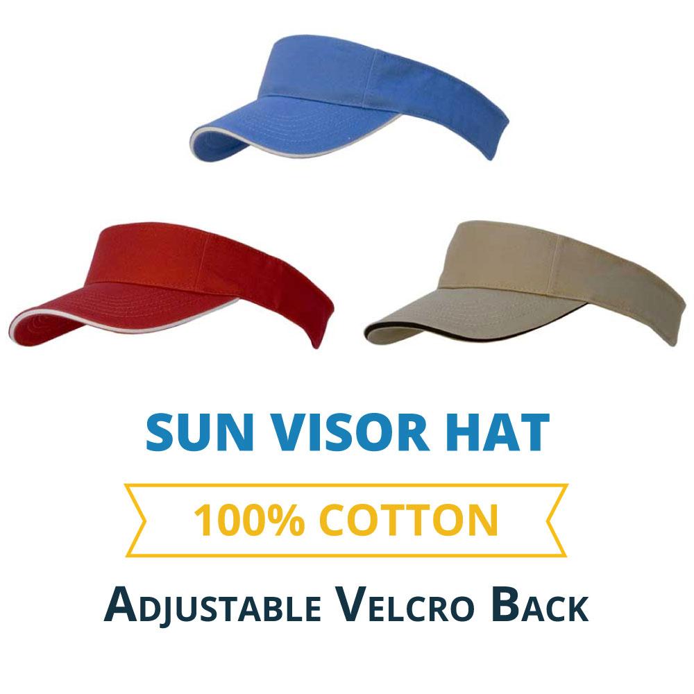 0eb384b9 Sun Visor Hat: WholesaleForEveryone.com